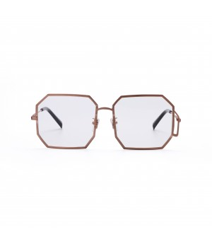 Jawel Mao Sunglasses-Fighting-Golden Rim Transparent