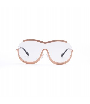 Jawel Mao Sunglasses-Lover-Gold Rim Transparent
