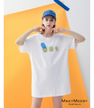 MacyMccoy Simpson Cartoon Shirt-White