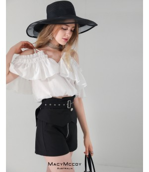 MacyMccoy Lotus Side Off-Shoulder Shirt