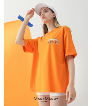 MacyMccoy Children's day T-Shirt-Orange