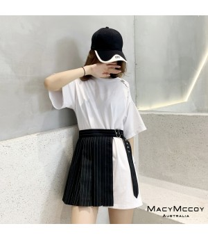 MacyMccoy Off-Shoulder Shirt&Skirt Set-White