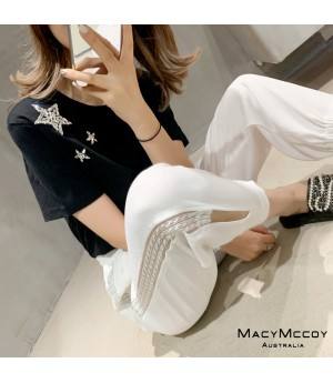 MacyMccoy Transparent Leisure Pants-White