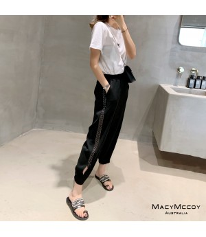 MacyMccoy Transparent Leisure Pants-Black