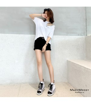 MacyMccoy White T-Shirt
