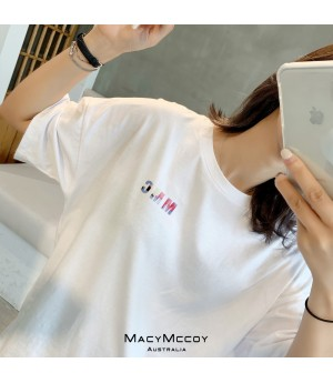 "MacyMccoy ""M Rendering"" T-Shirt-White"