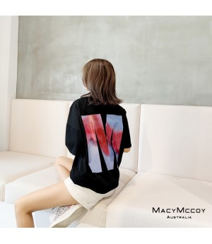 "MacyMccoy ""M Rendering"" T-Shirt-Black"