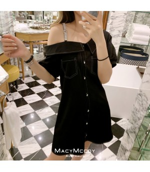 MacyMccoy Custom Made Bling Dress-Black