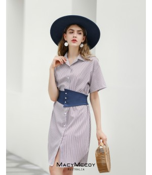 MacyMccoy Stripe Colored Waist Shirt