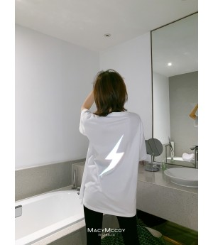 MacyMccoy Reflective Flash T-Shirt-White