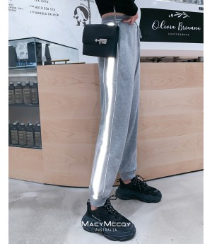 MacyMccoy 3M Reflective Sweatpants-Grey