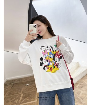 MacyMccoy Cartoon Hoodie-White