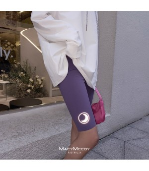 MacyMccoy Shark Skin Reflective Rider Pants-Purple