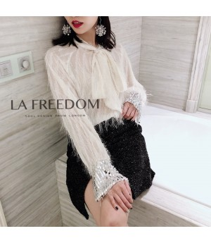 LA Freedom Tassels Shirt-White