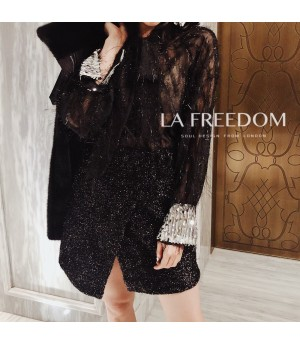 LA Freedom Tassels Shirt-Black