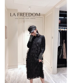 LA Freedom Black Lace Dress
