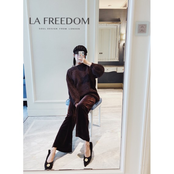 LA Freedom Coffee Wide Pants