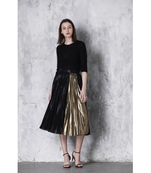 LA Freedom Skirt-Black and Gold