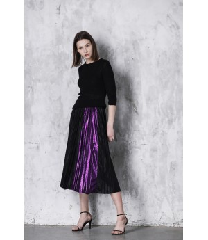 LA Freedom Skirt-Black and Purple