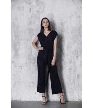 LA Freedom V-Neck JumpSuit-Black