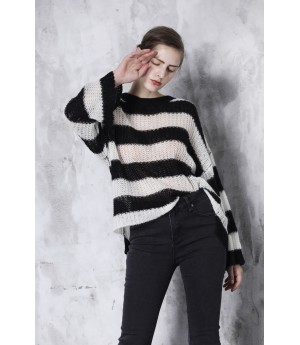 LA Freedom Black and White Sweater