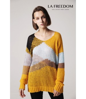LA Freedom Yellow Sweater