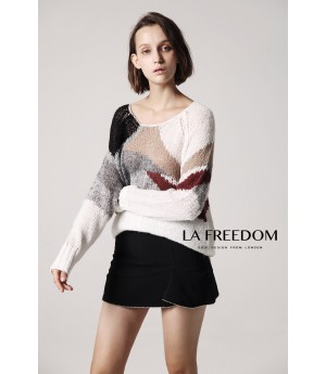 LA Freedom White Sweater