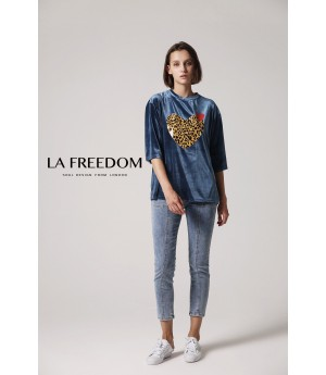 LA Freedom Heart T-Shirt-Blue