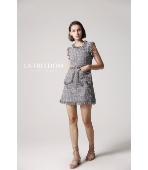 LA Freedom Grey Sleeveless Dress