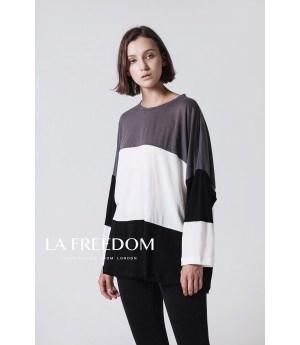 LA Freedom Top-Black and White