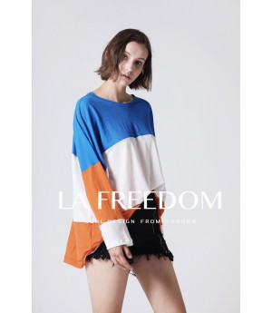 LA Freedom Top-Blue and Orange