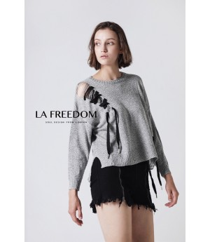 LA Freedom Grey Sweater