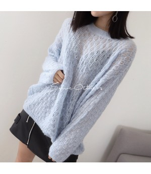 SomeOthers Round Collar Sweater-Blue