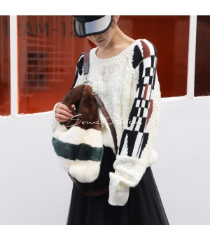 SomeOthers Black and White Wool Sweater