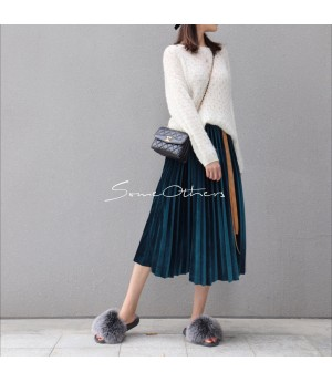 SomeOthers Midi Skirt-Green
