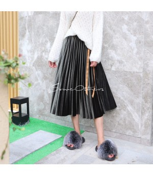 SomeOthers Midi Skirt-Army Green