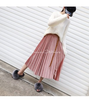SomeOthers Midi Skirt-Pink