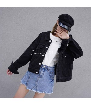 SomeOthers Jeans Coat-Black