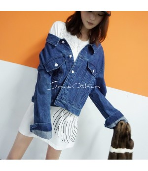 SomeOthers Jeans Coat-Blue