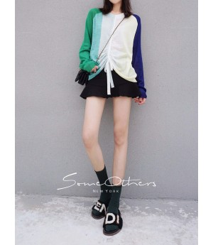 SomeOthers Candy Color Cardigan-Blue