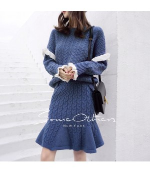 SomeOthers Knitting Dress-Blue