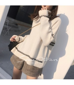 SomeOthers High Collar Sweater-White