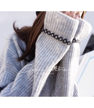 SomeOthers High Collar Sweater-Grey