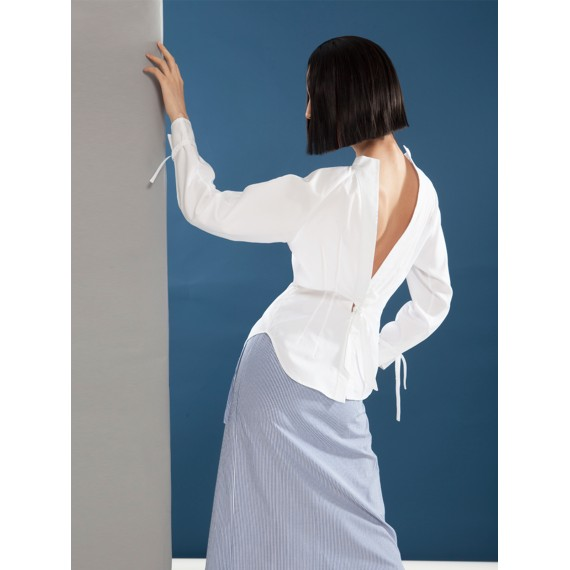 Timformation White Shirt with Open Back