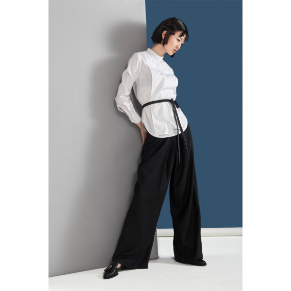 Timformation White Shirt with Belt