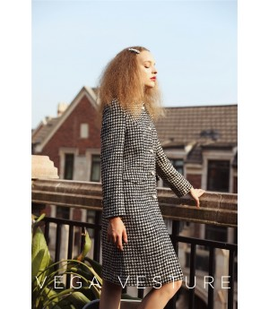 VEGA VESTURE Plaid Coat