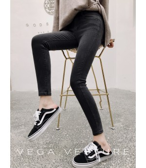 VEGA VESTURE Pencil Pants-Grey