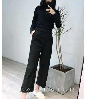VEGA VESTURE Wide Pants-Black