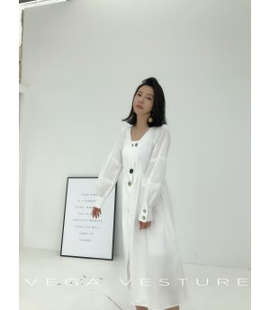 VEGA VESTURE White Dress