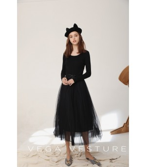 VEGA VESTURE Black Dress